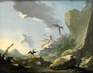 Landschap met Hagar en de engel