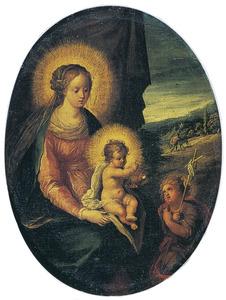 Maria met Christuskind en Johannes de Doper als kind