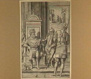 De parabel van de onwaardige bruiloftsgast: een koning geeft opdracht aan zijn dienaar om zijn vrienden uit te nodigen voor de bruiloft van zijn zoon  (Mattheus 22:2-14)