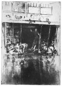 Gezicht op de Oudezijds Achterburgwal, Amsterdam