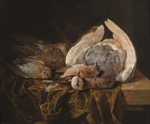 Stilleven van dood gevogelte