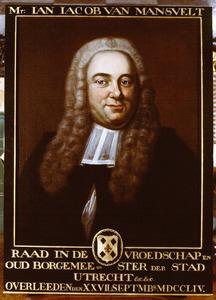 Portret van Jan Jacob van Mansvelt (1704-1754)