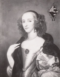 Portret van Agatha van Rhijn (1627-1673)