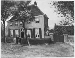 De pastorie in Nuenen, het ouderlijk huis van de schilder, vooraanzicht