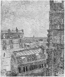 Gezicht vanuit de kamer van Van Gogh op de Rue Lepic te Parijs