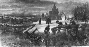 De oversteek van de rivier Berezina, 1812