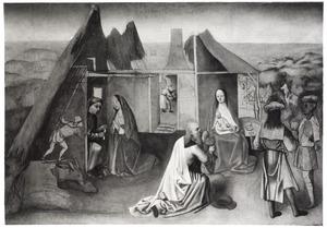De geboorte van Christus en de aanbidding van de Wijzen