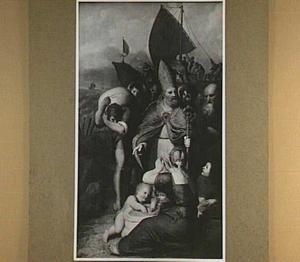 De H. Nicolaas redt de gelovigen van de hongersnood (Het meerseniersaltaar)
