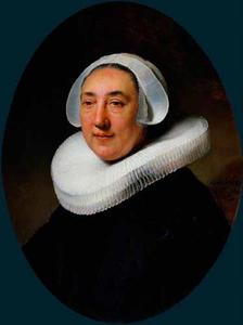 Portret van Haesje Jacobsdr. van Cleyburg (....-1641)