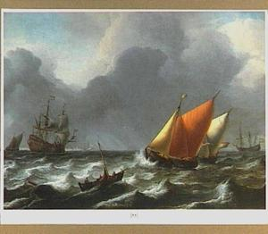Zeilschepen in een frisse bries