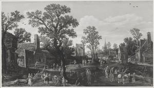 Gefantaseerd dorpsgezicht met de Petronellakapel in De Bilt