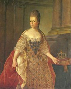 Portret van Frederika Sophia Wilhelmina (Wilhelmina; 1751-1820), prinses van Pruisen. echtgenote van prins Willem V