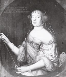 Portret van Ludovica Walpurga zu Solms -Greffenstein (1639- )