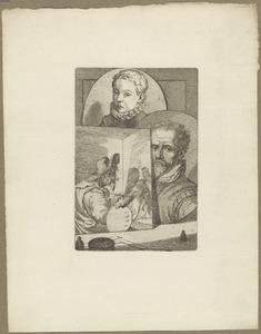 Portretten van Joachim Wtewael (1566-1638), Zacharias Dolendo (1561-....) en Hendrik de Keyser (1565-1621)