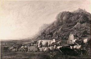 Jacob legt de geschilde takken in de drinkbakken voor het vee (Genesis 30:37-38)