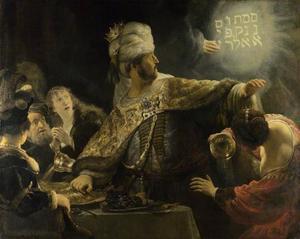 Het feestmaal van Belsassar (Daniël 5:5)