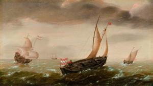 Stijve bries op de open zee