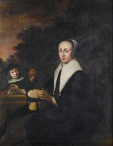 Portret van een vrouw met haar zoon