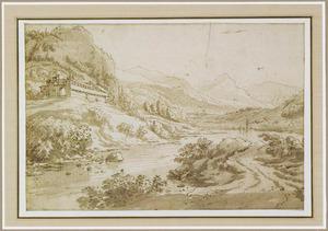 Rivierlandschap in de Alpen
