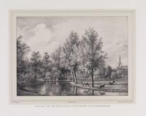 Parklandschap met doorkijk naar de hofstede Rusthoff