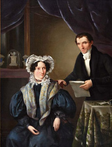Portrte van het echtpaar Carolus Franciscus Sala (1792-....) en Anna Francisca Knage (....-....)