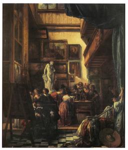 Het bezoek van burgemeester Six aan het atelier van Rembrandt