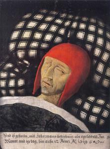 Doodsbedportret van keizer Maximiliaan I van Habsburg (1459-1519)