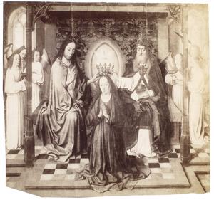 De kroning van Maria met engelen