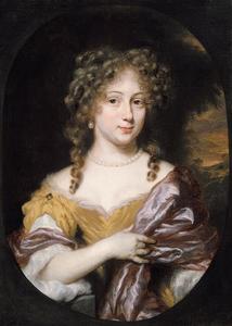 Portret van een vrouw, mogelijk Anna (1658-?) of Maria (1661-?) Meulenaer