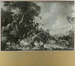 Orpheus spelende voor de dieren