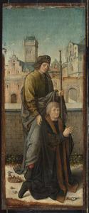 Portret van een onbekende donor met zijn patroon H. Jacobus de Meerdere