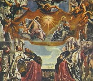 De H. Drieëenheid aanbeden door de hertogen Guglielmo en Vicenzo Gonzaga en hun familie