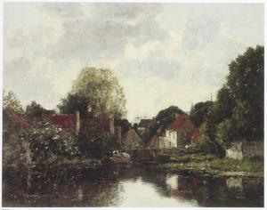 Kanaal in de omgeving van Dordrecht