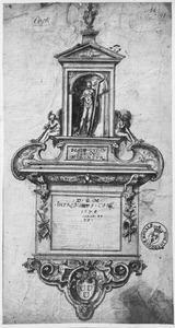 Ontwerp voor grafmonument van Hieronymus Cock (1507-1570)
