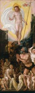 Christus daalt af in het voorgeborchte