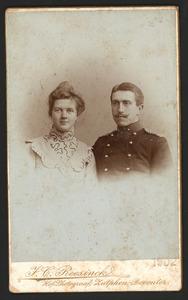 Portret van Pieter Marie de Wolf (1881-?) en Catharina Christina van Doorninck (1882-?)