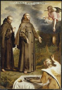 De miraculeuze voeding van de Franciscaner heilige San Diego de Alcalà (1400-1463)