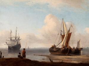 Zeilschepen bij het strand