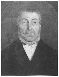Portret van Johan Hendrik Tiel