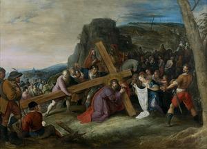Christus' val tijdens de kruisdraging en de ontmoeting met de Heilige. Veronica