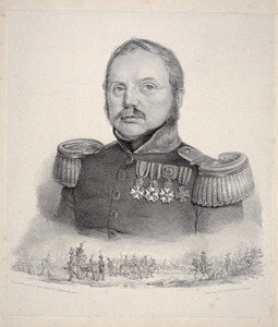 Portret van  Frederik Carel List (1784-1868)