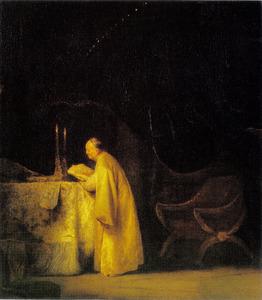 De profeet Zacharias in de tempel (?)