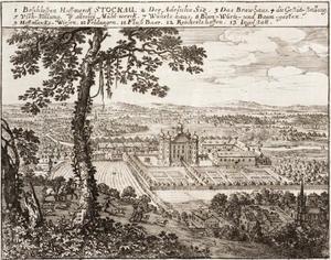 Kasteel  Stockau met landgoed in de vallei van de rivier de Paar in het voormalige hertogdom van Palts-Neuburg, tegenwoordig een deel van Beieren