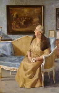 Portret van koningin Wilhelmina (1880-1962) na haar abdicatie
