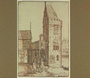 Amsterdam, de toren 'Swijgh Utrecht' (afgebroken in 1882)