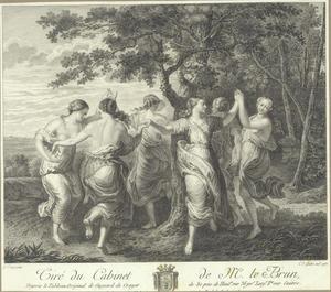 Dansende nimfen rond een boom