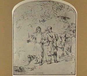 Tobias en Sara geleid door de engel bij hun terugkeer naar Nineve