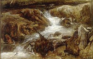 Waterval in de Dussel bij Erkrath