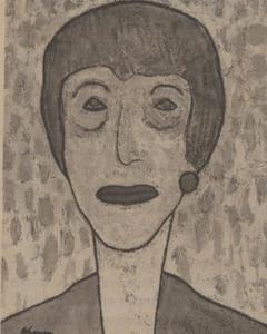 Portret van Mathilda Anna Cornelia Visser (1900-1985)
