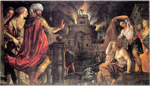 Vuurwerk afgestoken vanaf het Castel Sant'Angelo in Rome